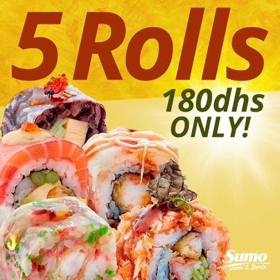 CREATE YOUR OWN PLATTER 5 Rolls for 180dhs ONLY!