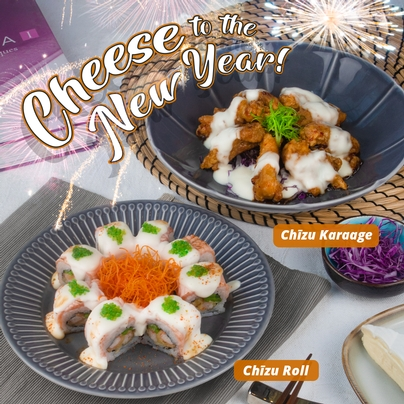 CHEESE TO THE NEW YEAR With Chizu Karaage & Chizu Roll