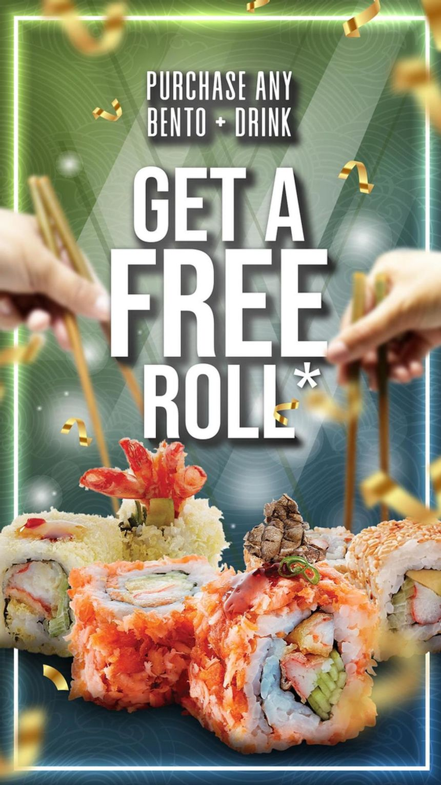FREE Sushi Roll