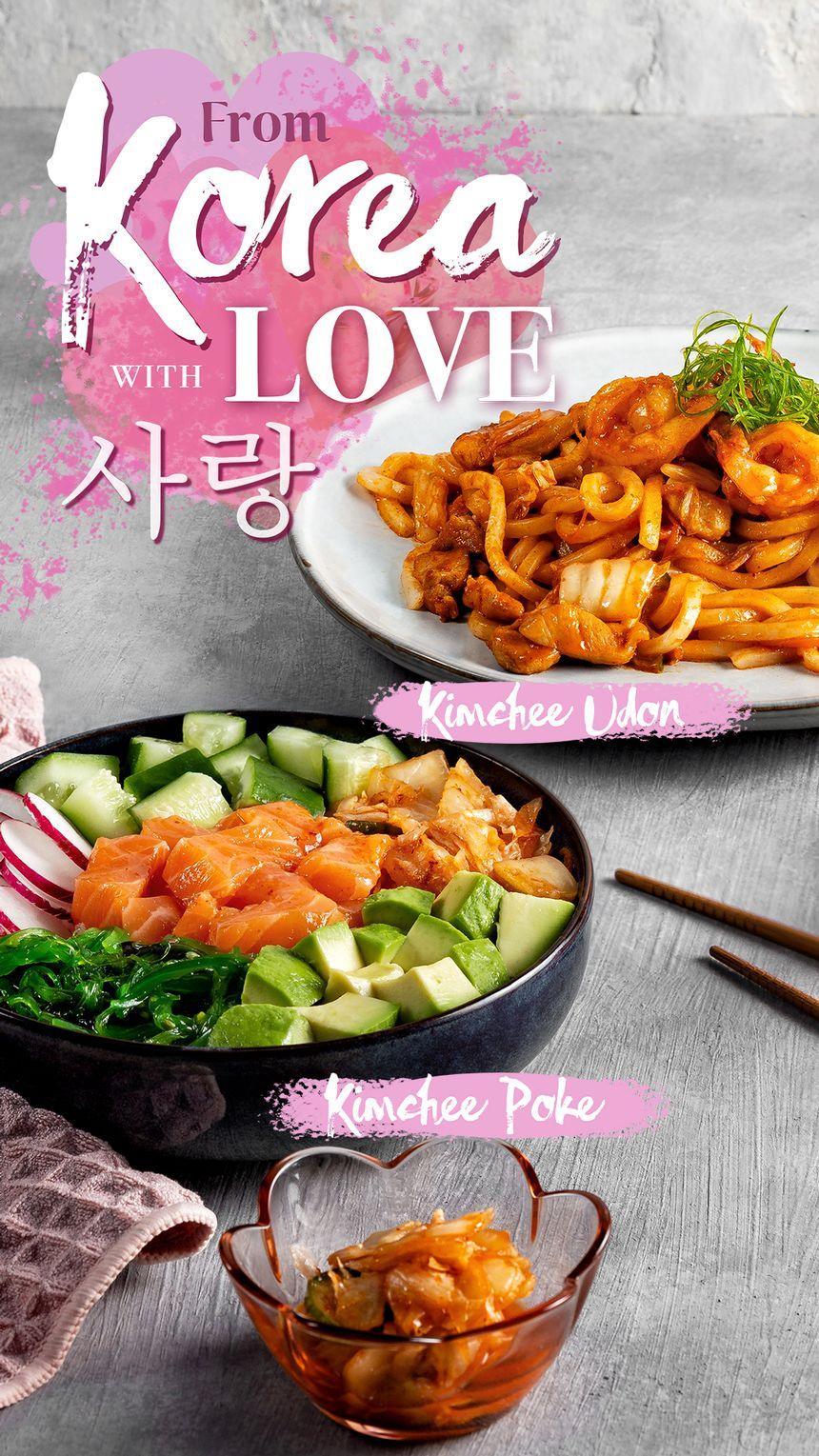 Sumo Sushi February Specials, Kimchee Poke & Kimchee Udon